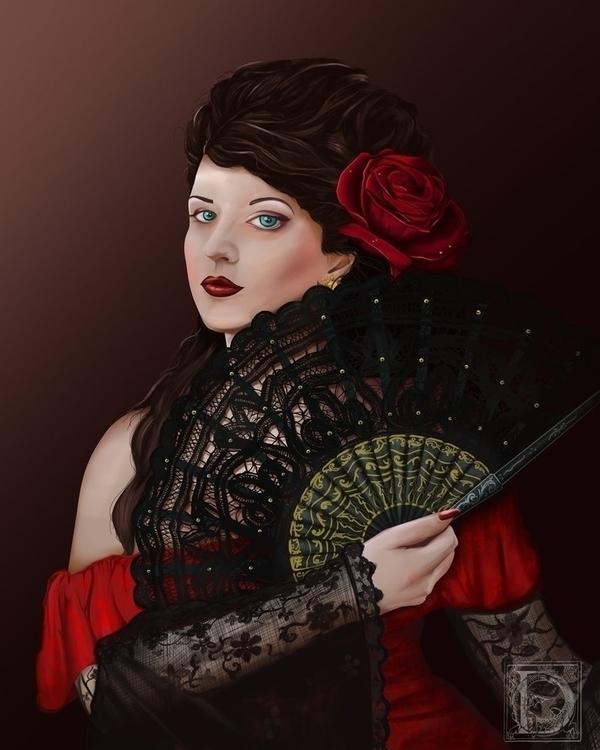 Esmeralda - portrait, digitalart - ilitch | ello