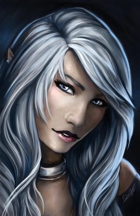 Dahlia 2015 - illustration, characterdesign - wolfypaints | ello