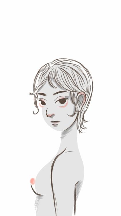 Doodle - woman, doodle, illustration - thisjustine | ello