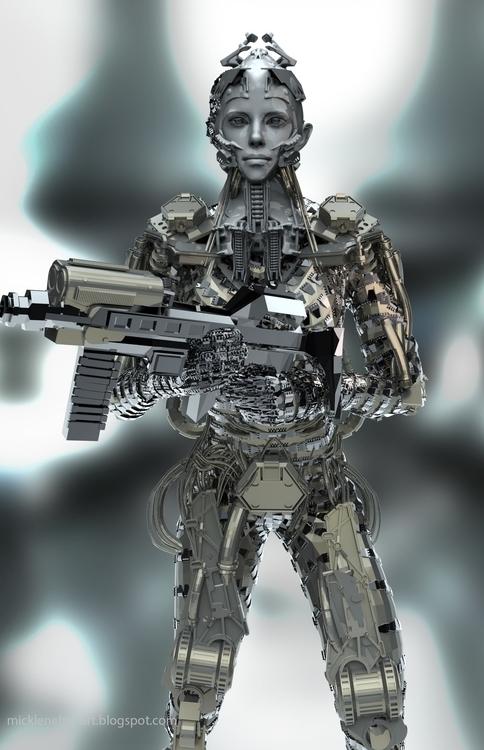 Cyborg Michael Lenehan - 3d, sci-fi - mikl-3563 | ello