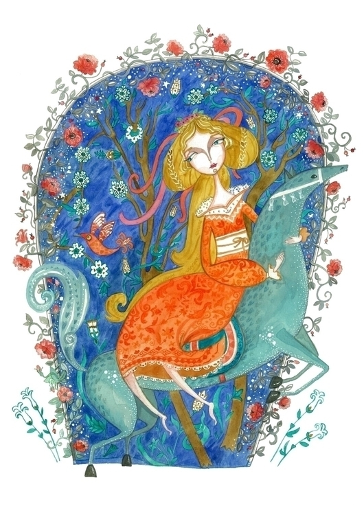 Lost Princess - illustration, princess - plantusmarina | ello