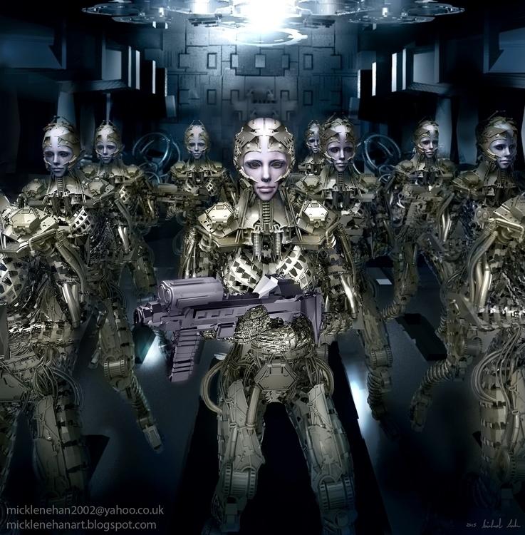 Prepare Battle - 3d, sci-fi, robot - mikl-3563 | ello