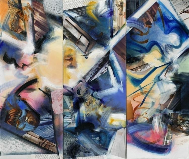 Kuan Answers Watts, Oil collage - ritchard27 | ello