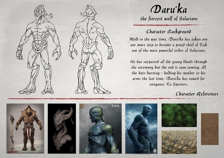 Daru'ka character sheet - characterdesign - cheezynguyen | ello