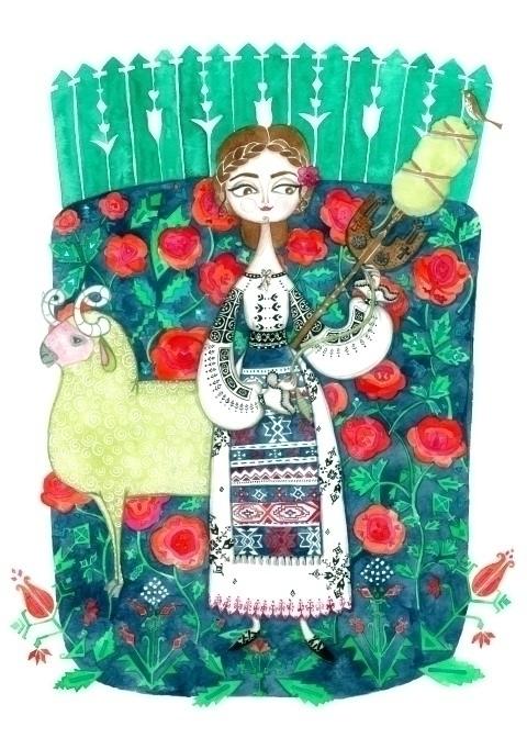 Story Romania - illustration, print - plantusmarina | ello