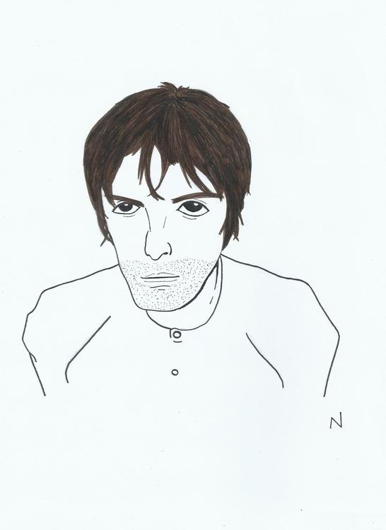 Liam Gallagher - illustration, characterdesign - novelia | ello