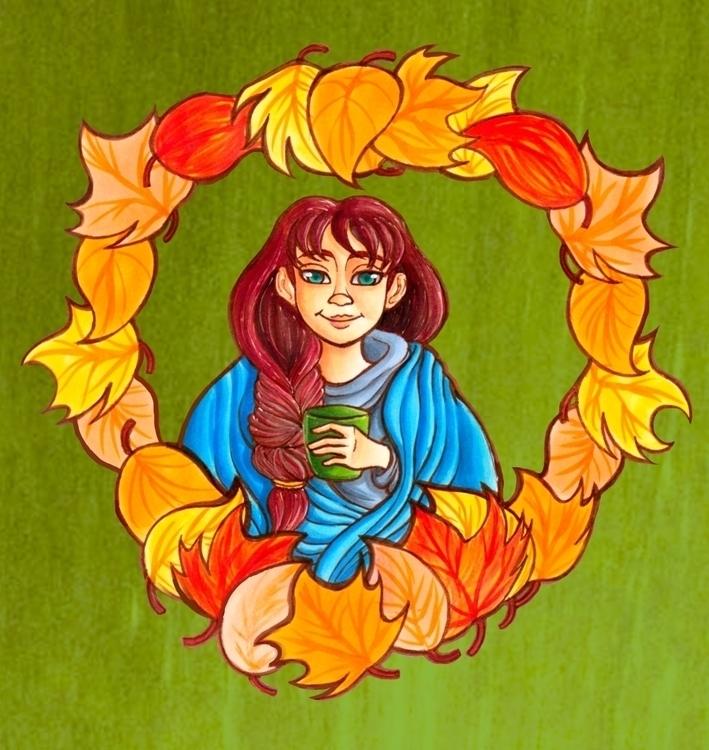 Wrapped Autumn. Mediums: Copic  - bridgetpavalow | ello