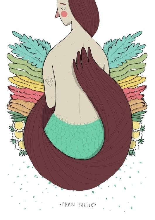 Siren - siren, love, flowes, hair - franpulido | ello