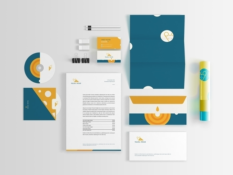 Yellow.Mouze  - illustration, branding - cheezynguyen | ello