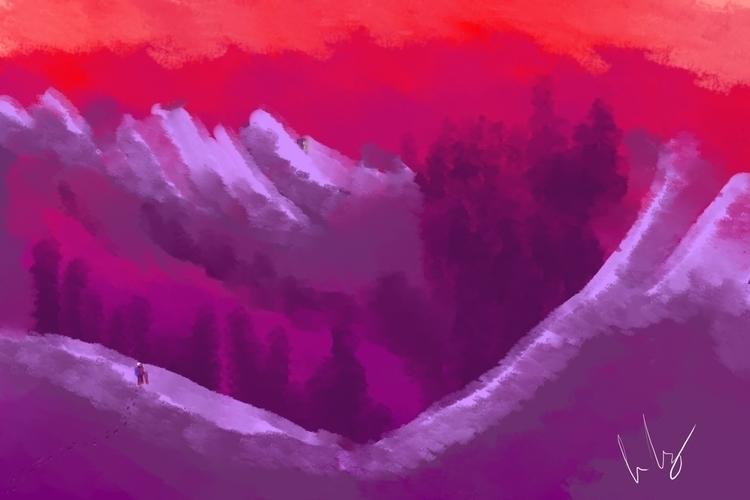 velvet mountain - illustration - caiooliveira-1135 | ello
