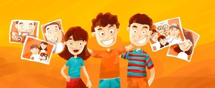 grandchildren - children, illustration - dskano | ello