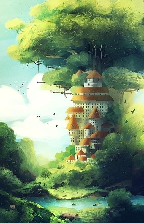 illustration, painting, fantasyart - yanivcahoua | ello
