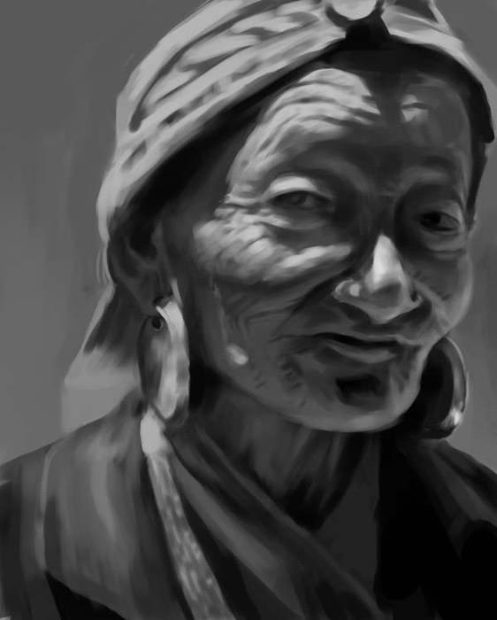 painting, portrait, woman - yanivcahoua   ello