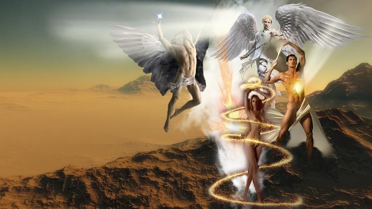 Adam Eva creation - Sephiroth Y - golaniyehuda | ello
