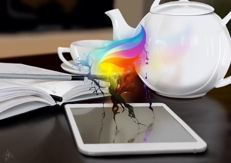 Procreate. iPad finger painting - jaime_sanjuan   ello