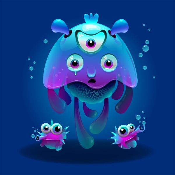 Jelly - jellyfish, monster - estince | ello