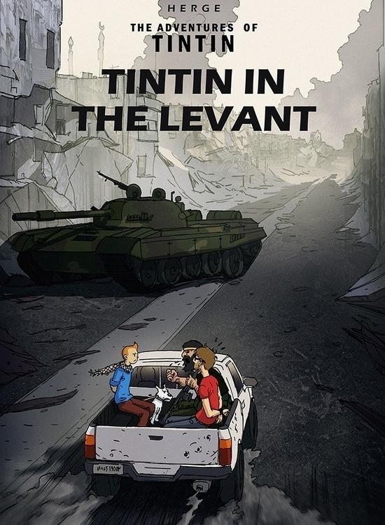 TINTIN LEVANT - cover, comics, graphicnovel - noobovich | ello