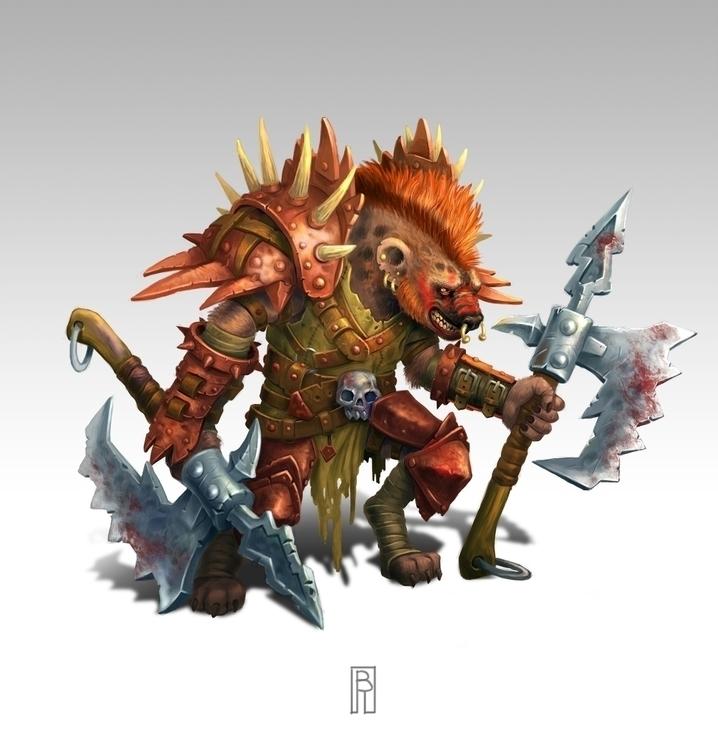 Gnoll berserker - characterdesign - boris_rogozin | ello