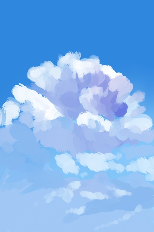 Speed Paint 1 - clouds, painttoolsai - scookart | ello