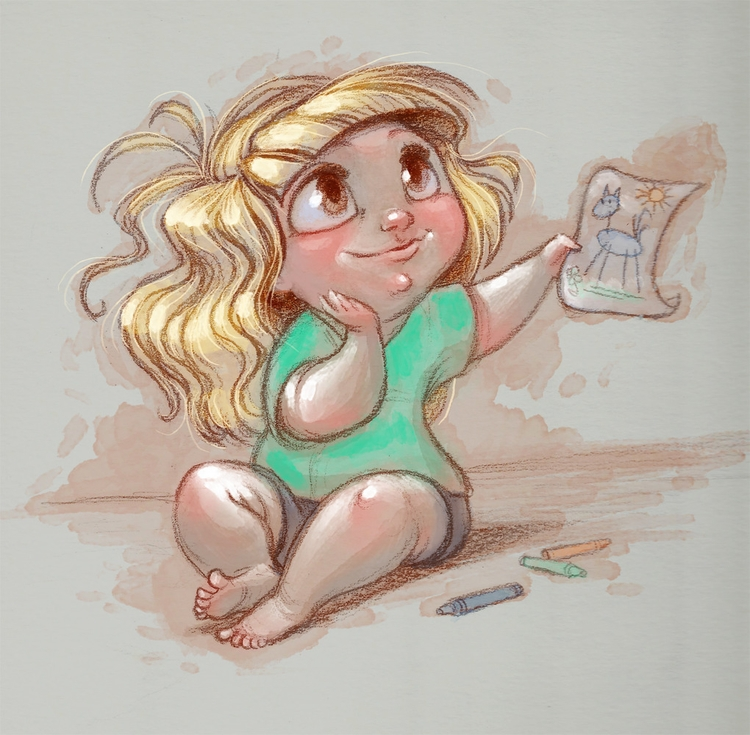 Sketch Dailies topic: Baby *cut - mallorycarlson | ello