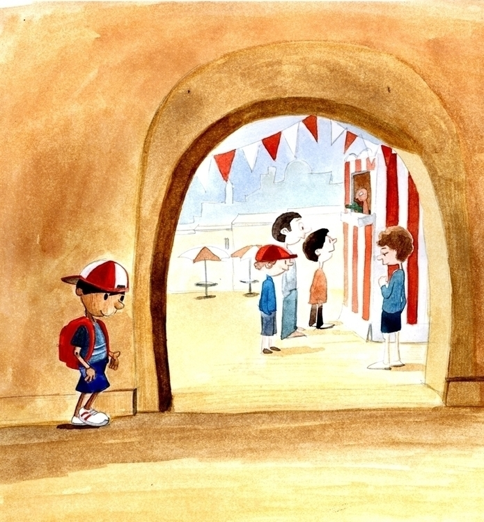 Pinocchio market - #fairytales, illustration - debbiejenkinson | ello