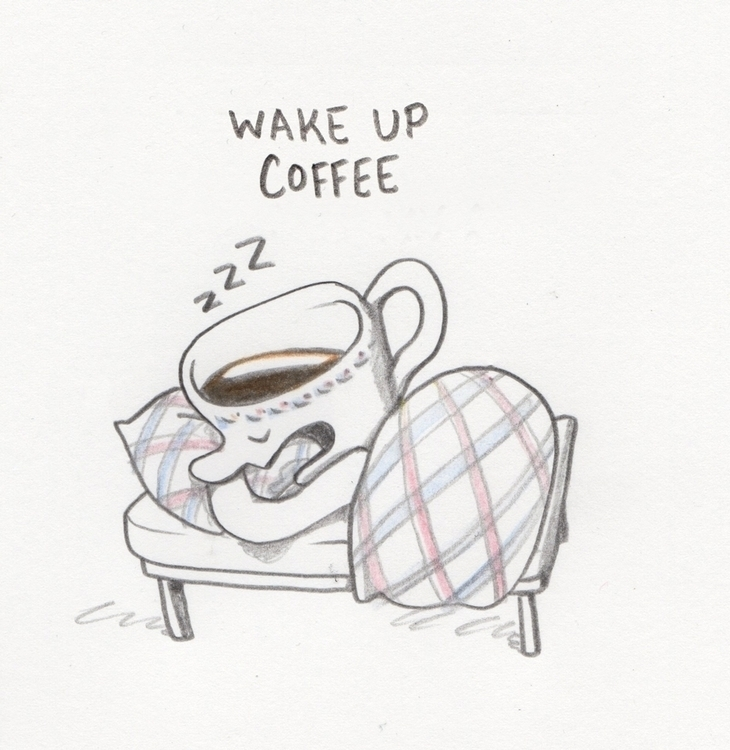 Wake coffee - sleep, drawing - zeichenwege | ello