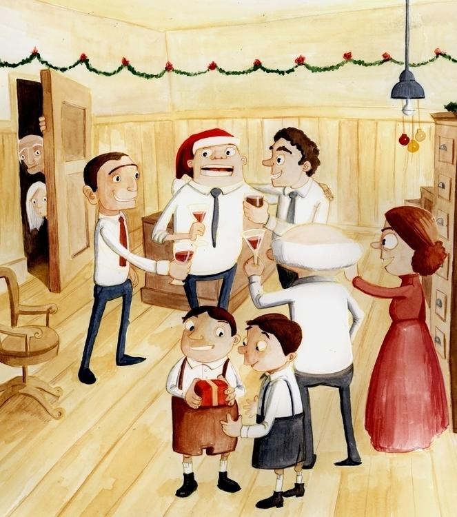 Christmas Carol - illustration, fairytales - debbiejenkinson | ello