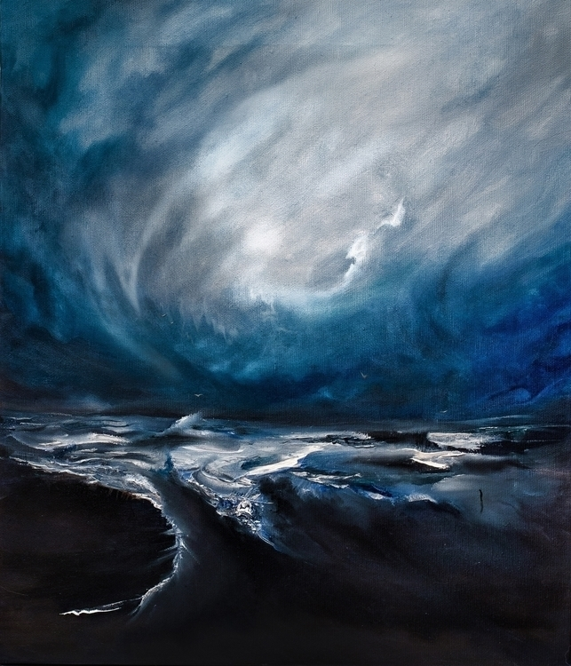 Seascape,oil canvas 50x40 - sea - alina___s | ello