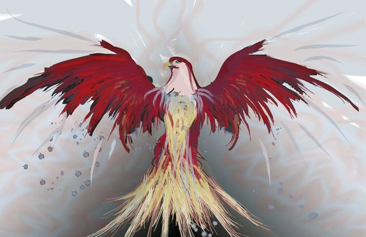 RedVirto - illustration, bird, phoenix - mjmotta109 | ello