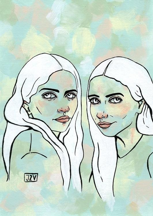 ~ Olsen - girls, painting, acrylic - jeezvanilla | ello