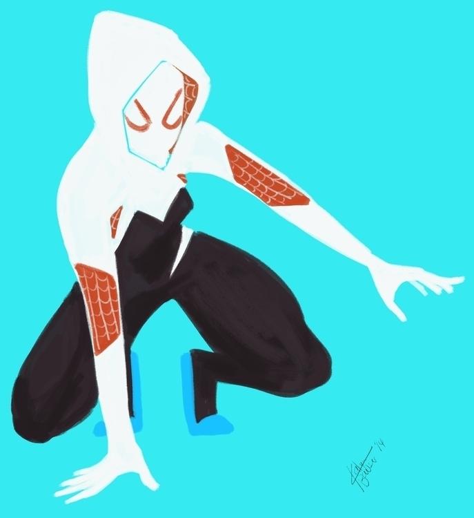 Spider-Gwen - fanart, Spider-Man - katyabowser | ello