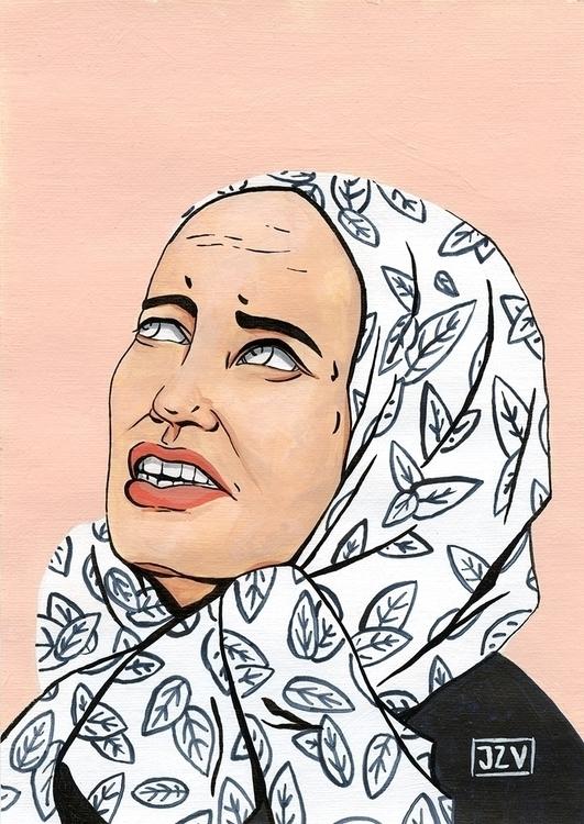 ~ Edie - illustration, painting - jeezvanilla | ello