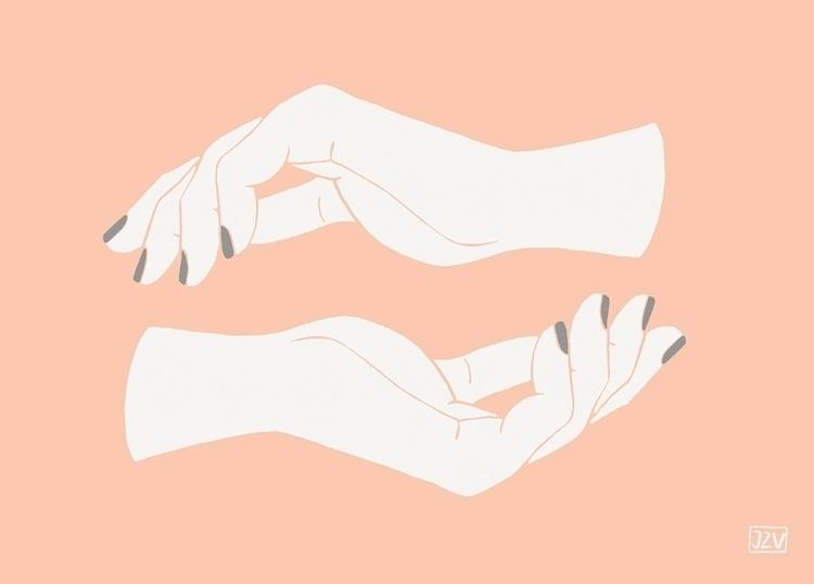 Balance - hands, zen, digitalpainting - jeezvanilla | ello