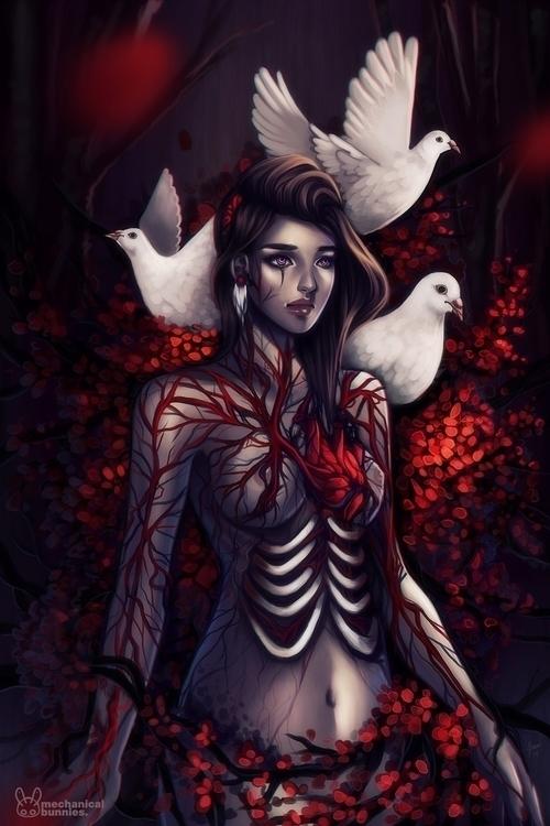 Aching Heart - doves, heartbreak - mechbunnies | ello
