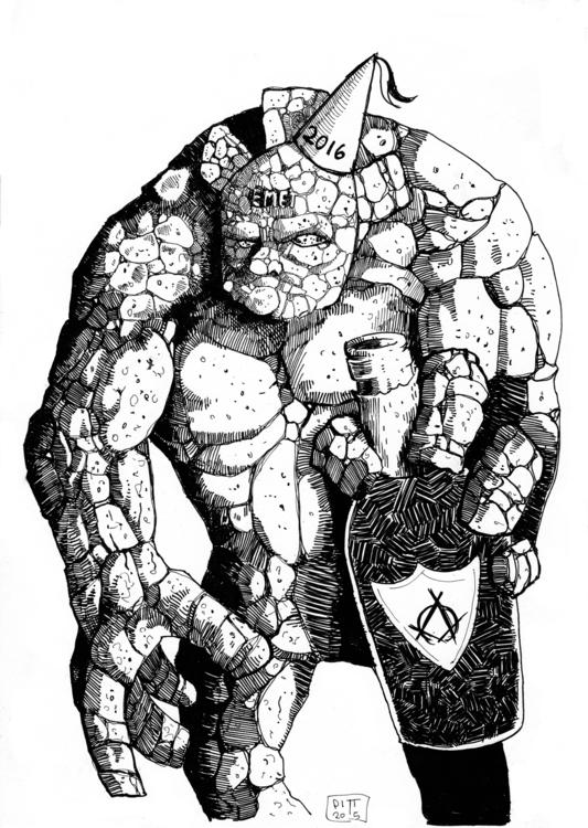 Party Golem - illustration - pittrorotelli   ello