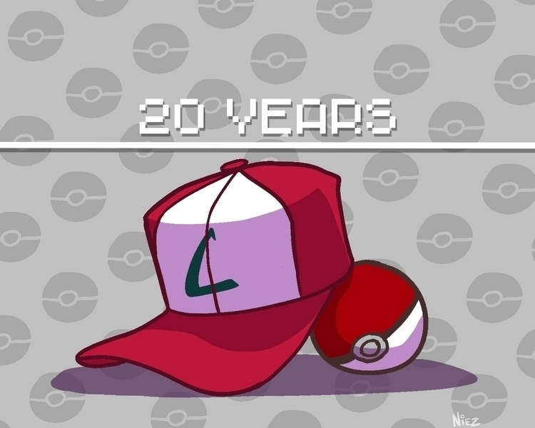 20th Anniversary Pokemon - illustration - dustlight_ | ello