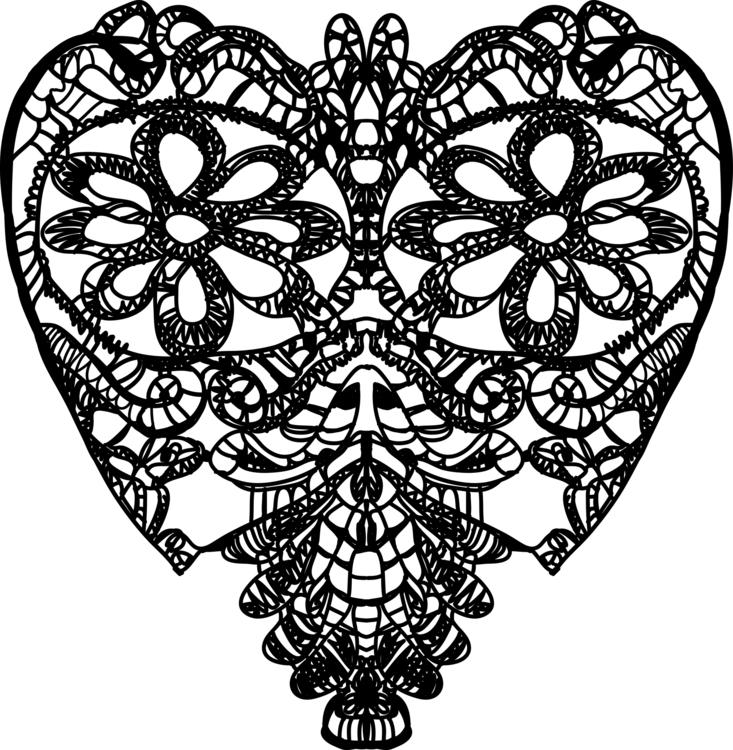 Crochet black heart - illustration - gretaberlin   ello