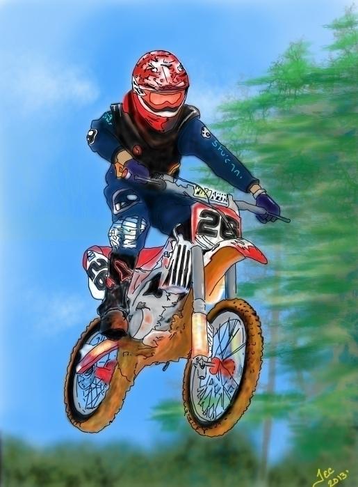 #motorcross, illustration, conceptart - thomasechapman   ello
