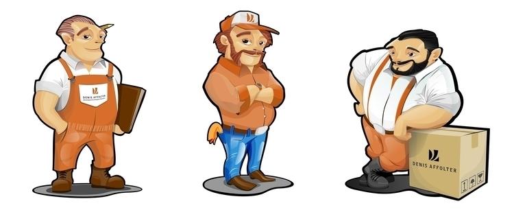 characters design Denis Affolte - yorlancabezas | ello