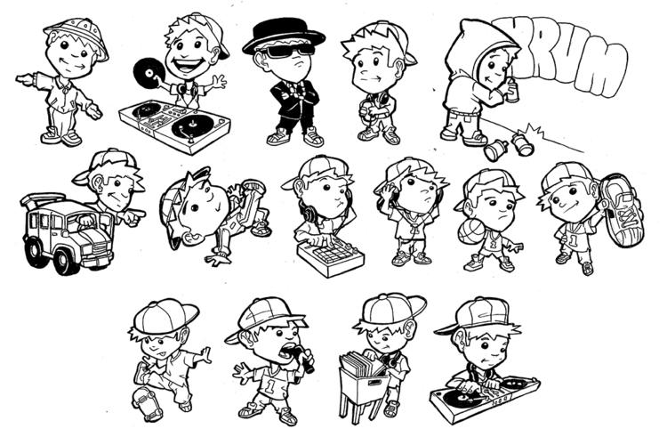 Hip hop characters - illustration - khalidrobertson | ello