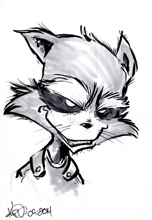 Rocket Raccoon Sketch - rocketraccoon - kevinisaac | ello