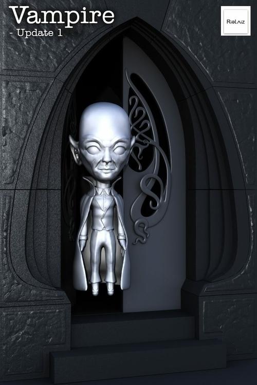 lonely Vampire: WIP - vampire, 3d - zenosculptor | ello