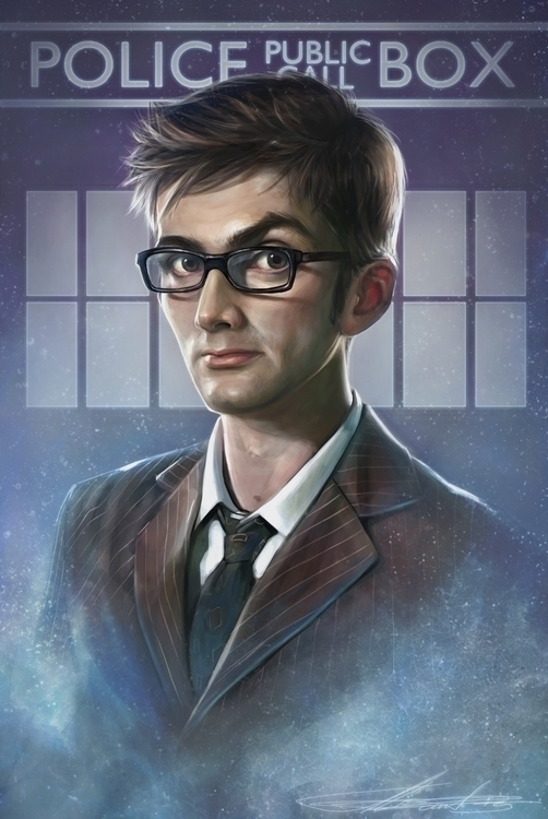 Doctor - illustration, fanart, painting - aliszombie | ello