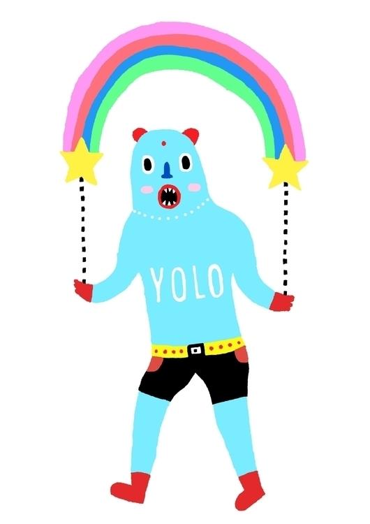 YOLO - yolo, parade, rainbow, wrestler - saif-9654 | ello