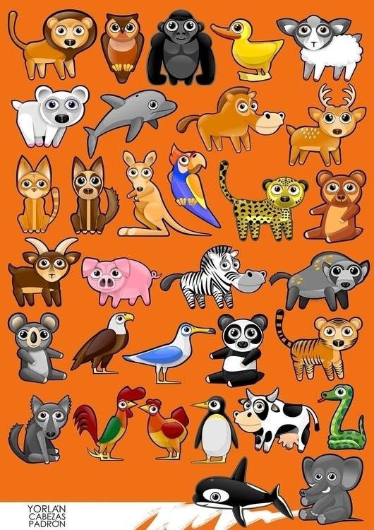 App Animals - illustration, characterdesign - yorlancabezas | ello