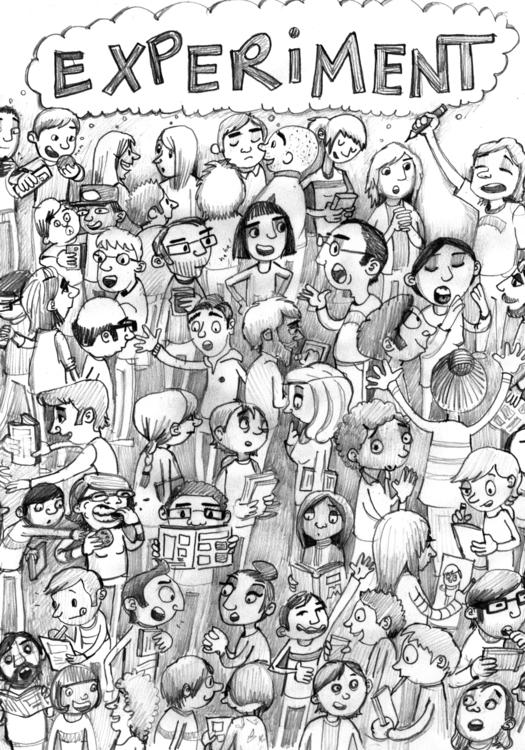 Experiment, group zine Comics L - debbiejenkinson | ello