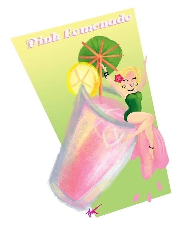 characterdesign, pinup, drink - artbyjenisse | ello