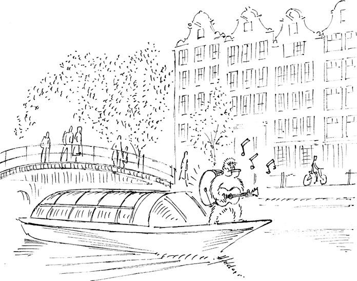 Trent busking Amsterdam - #illustration - dannybriggs   ello