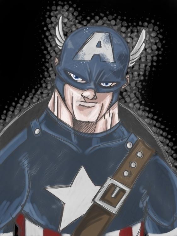Captain America - ipad - captainamerica - kevinisaac | ello