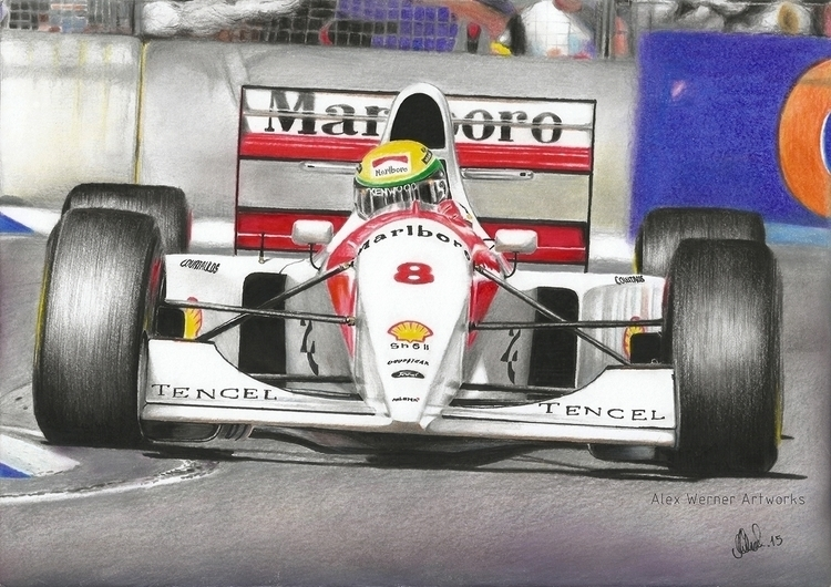 Ayrton Senna McLaren MP4-8 - Ad - aalexwerner | ello